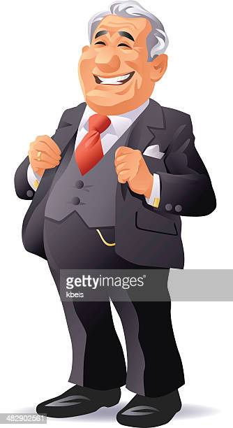 senior businessman - millionnaire stock illustrations, clip art, cartoons, & icons