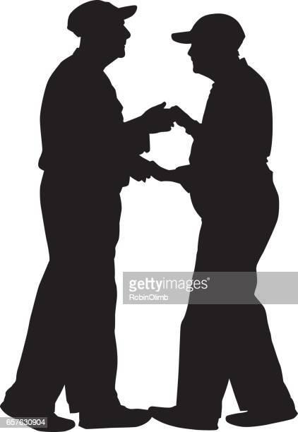 Senior Couple Dancing Silhouette