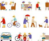 Senior lifestyle icons