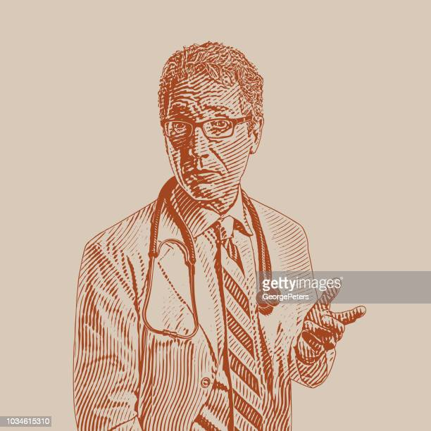Senior männlichen Arzt