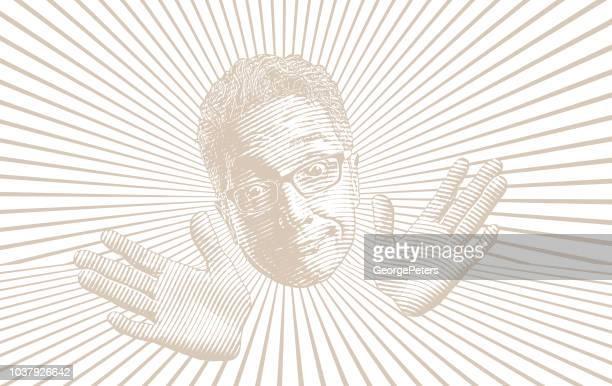 Senior man making a funny facial expression