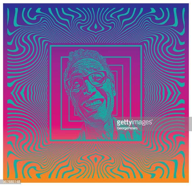 ilustrações, clipart, desenhos animados e ícones de último homem com expressão facial engraçada - intoxicação por cannabis