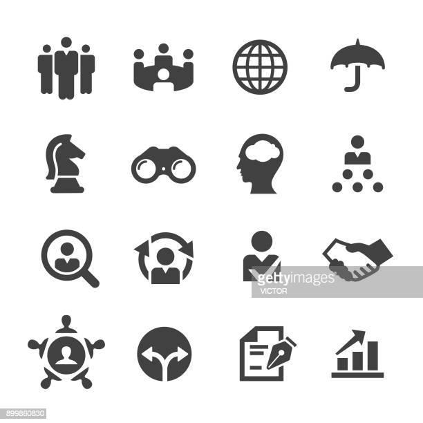 bildbanksillustrationer, clip art samt tecknat material och ikoner med ledande befattningshavare ikoner - acme-serien - coo