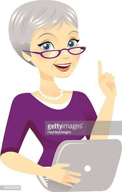 Senior Woman Using Computer