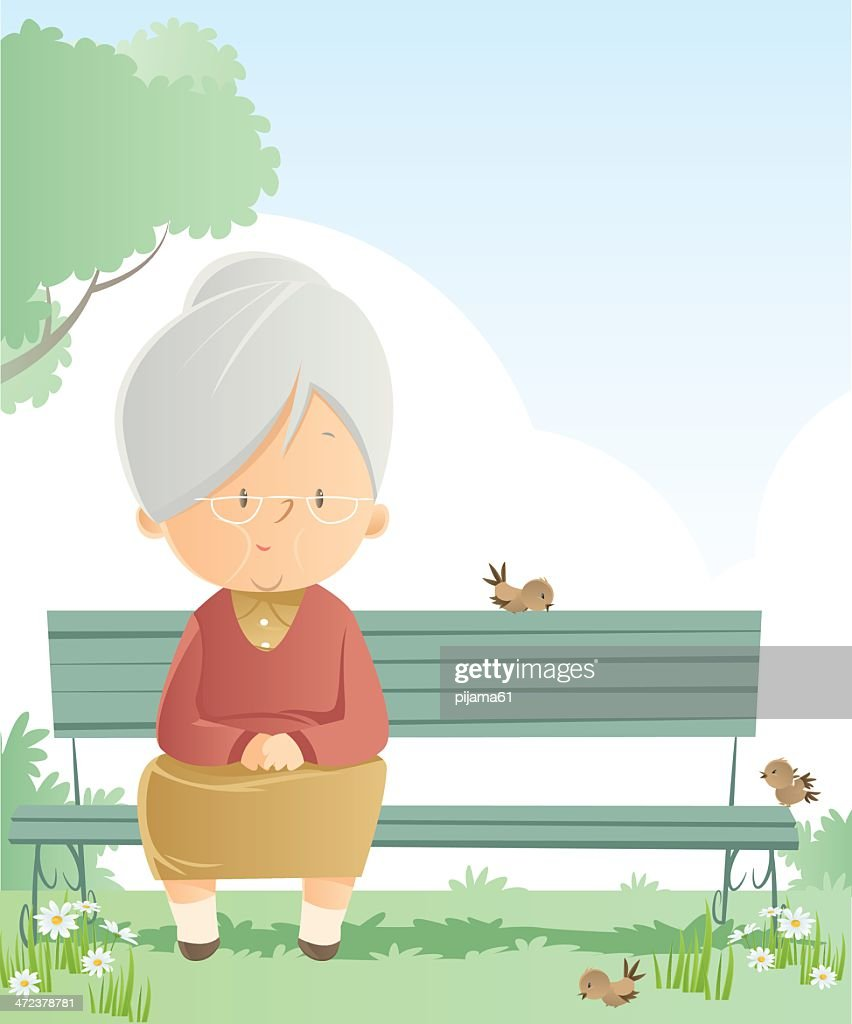 Senior Women : stock illustration