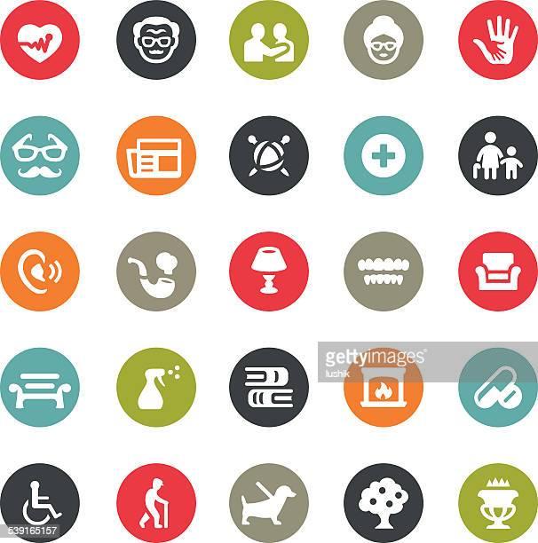 illustrations, cliparts, dessins animés et icônes de les retraités icons/ringico series - prothèse auditive