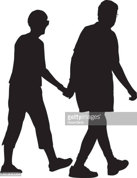 Senioren lopen samen pictogram