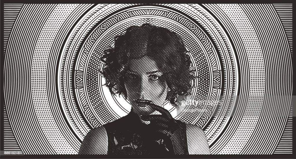 Sensuous woman wearing glamorous vintage fashion