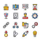Seo and Web Flat Icons Bundle
