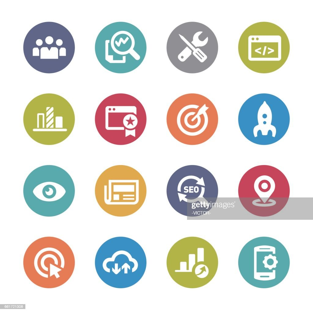 Seo Icons Set - Circle Series