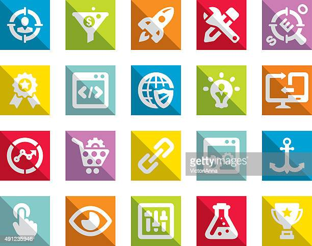 seo_freedomy series_13 - online advertising stock illustrations, clip art, cartoons, & icons