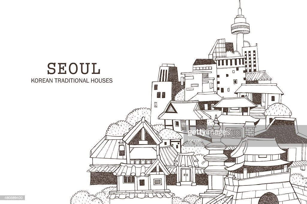 Seoul city and Korean architecture C
