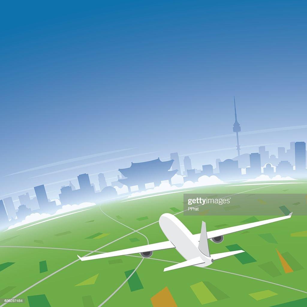 Seoul Skyline Flight Destination