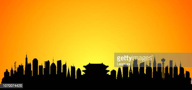 seoul (all buildings are separate and complete) - namdaemun gate stock illustrations, clip art, cartoons, & icons