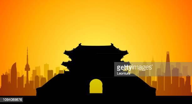 ソウル (すべての建物が完成し可動) - 韓国文化点のイラスト素材/クリップアート素材/マンガ素材/アイコン素材