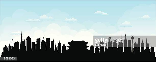 seoul (buildings are detailed, moveable and complete) - seoul stock illustrations, clip art, cartoons, & icons