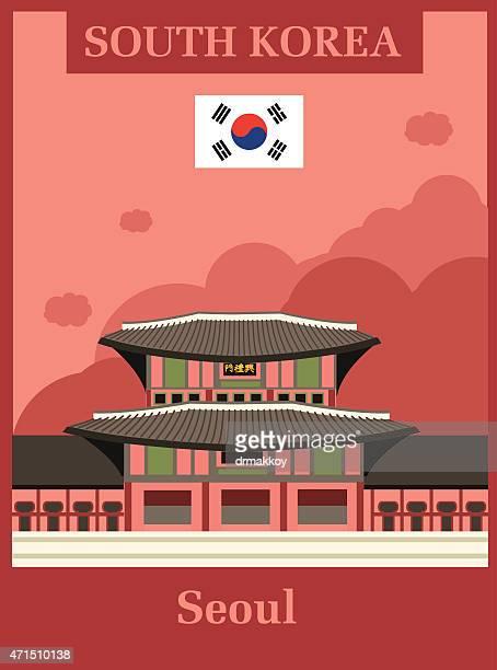 seoul - seoul stock illustrations, clip art, cartoons, & icons