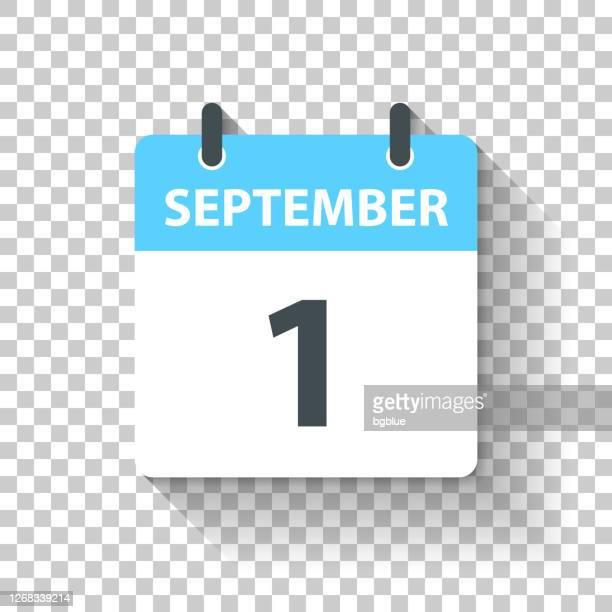 september 1 - daily calendar icon in flat design style - september stock illustrations