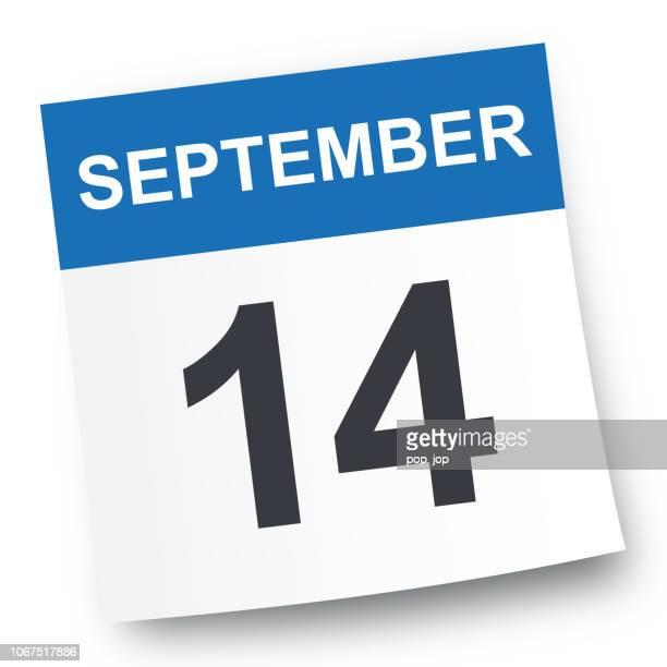 14. september - kalender-symbol - september stock-grafiken, -clipart, -cartoons und -symbole