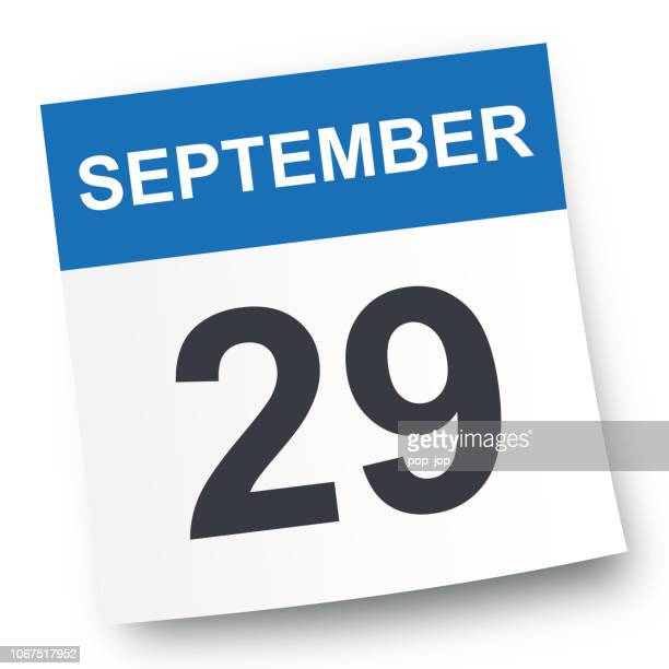 29 september - kalender-symbol - september stock-grafiken, -clipart, -cartoons und -symbole
