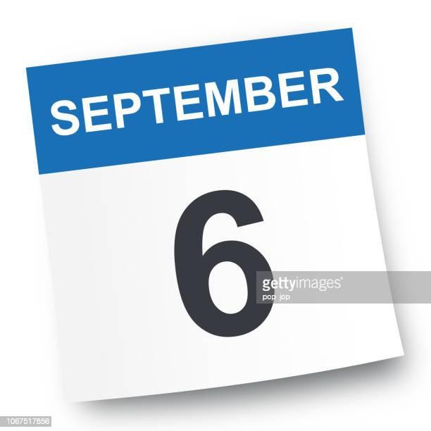 6. September - Kalender-Symbol