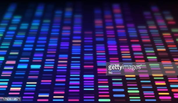 dna sequencing data processing genetic genomic analysis - genetic mutation stock illustrations