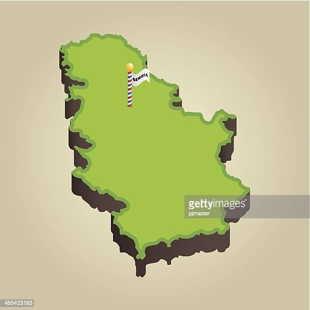 Serbia 3D Map
