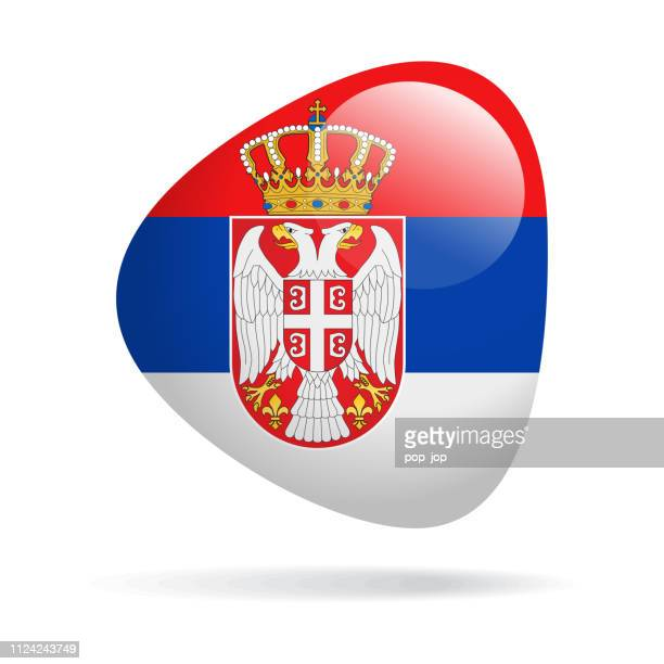 Serbia - Abstract Flag Vector Glossy Icon