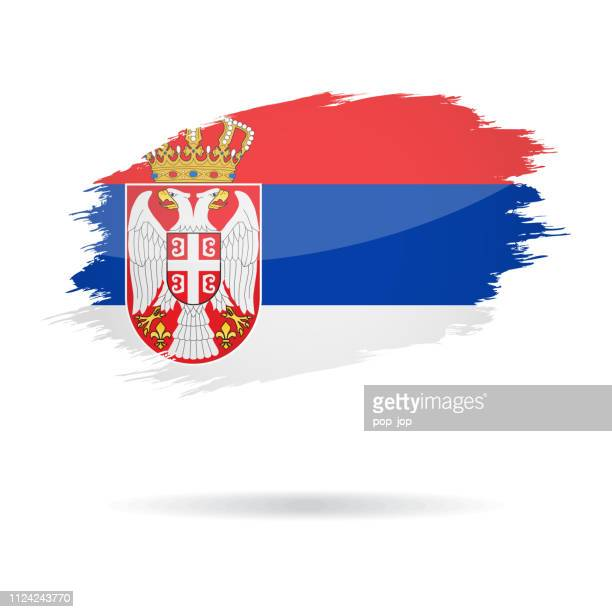 Serbia - Grunge Flag Vector Glossy Icon