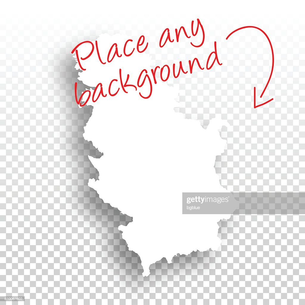 Serbia Map for design - Blank Background : stock illustration