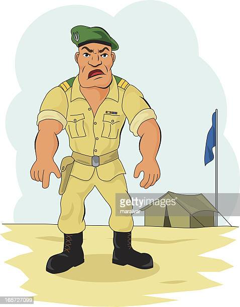 sergeant soldier - paratrooper stock illustrations, clip art, cartoons, & icons