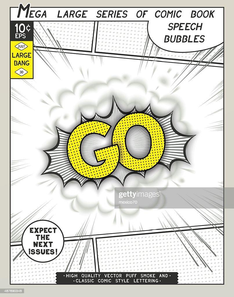 Series comics speech bubble
