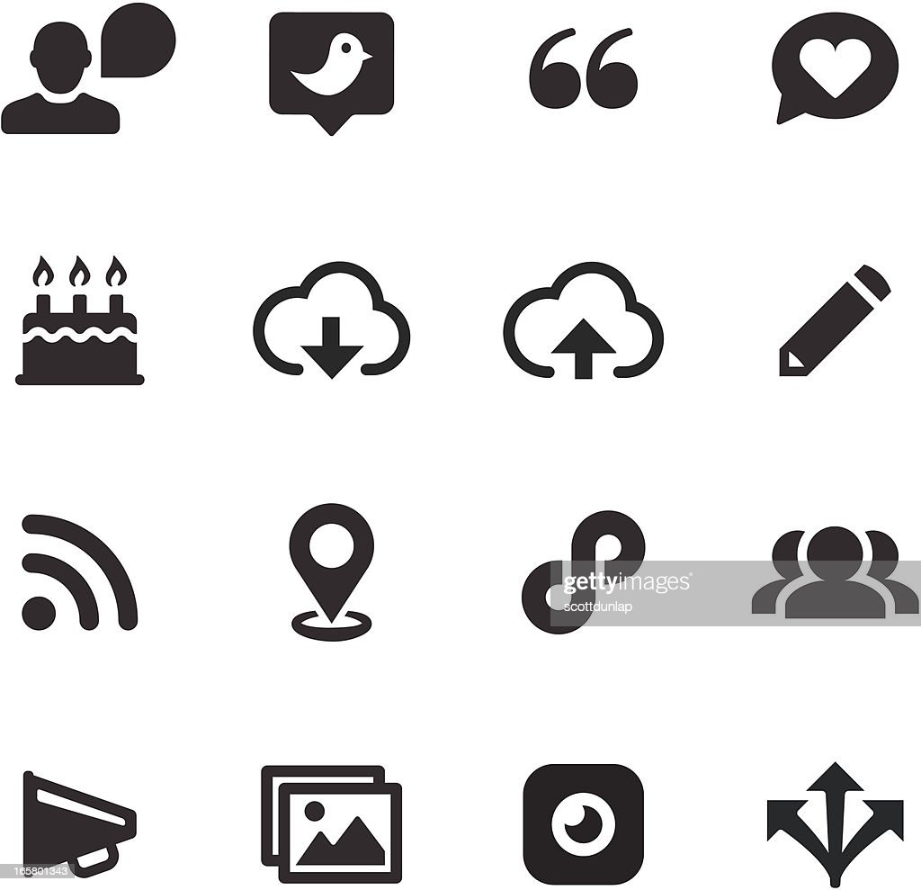 A series on black & white Social Media icons