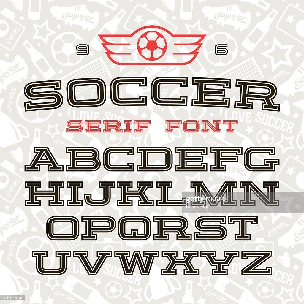 Serif font in sport style