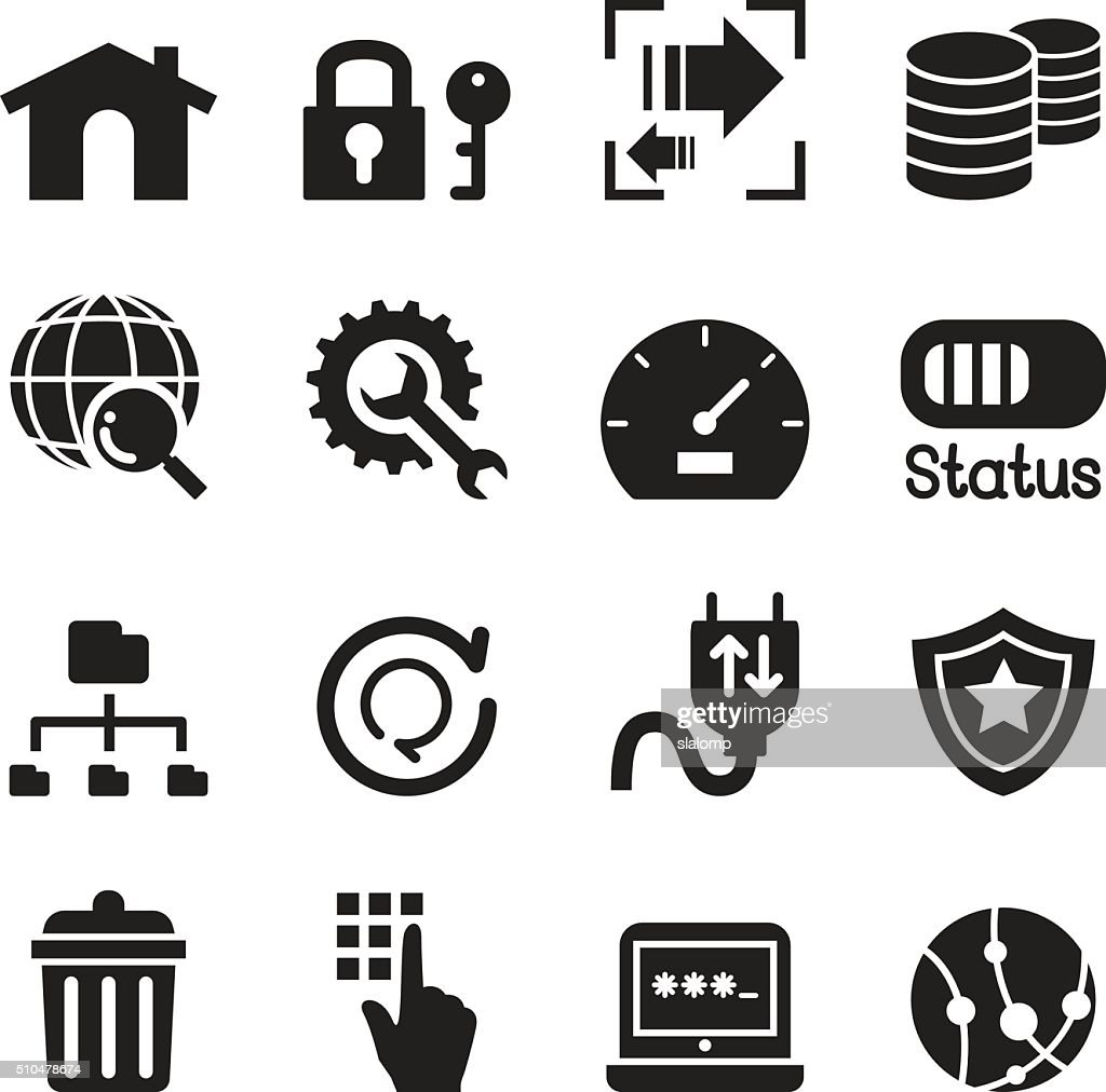 FTP , Server and Hosting icon set
