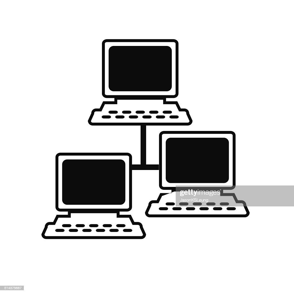Server Computer Icon- Vector