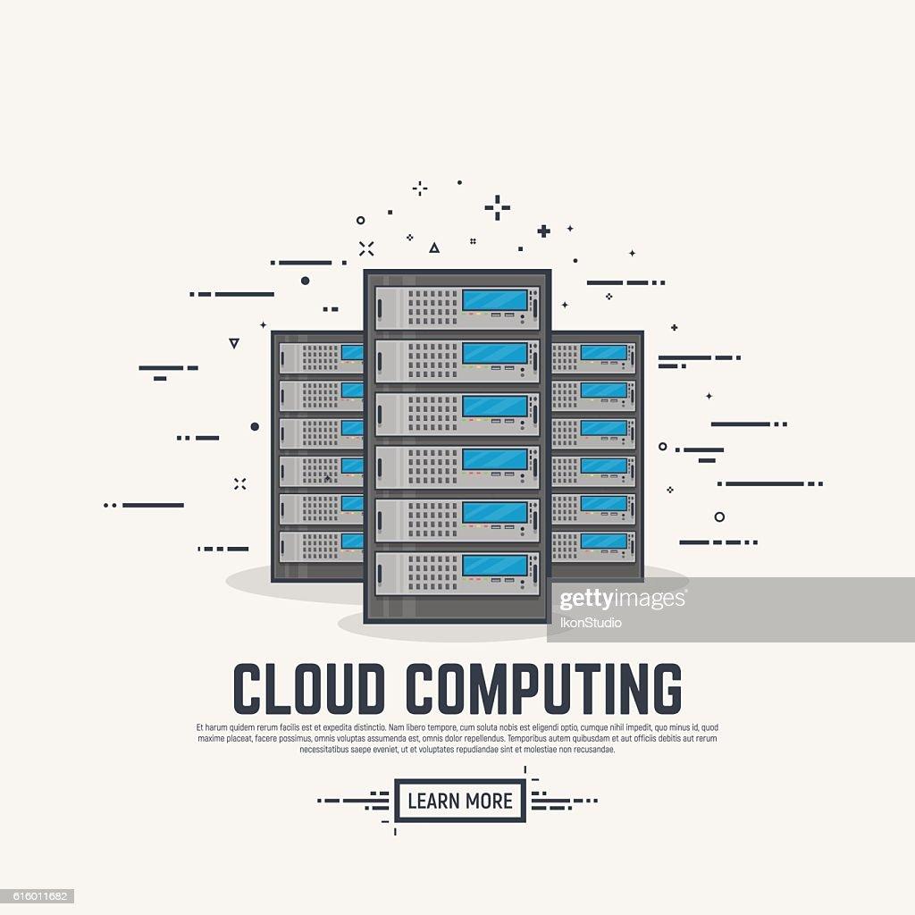 Server line illustration