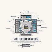 Server protection line illustration