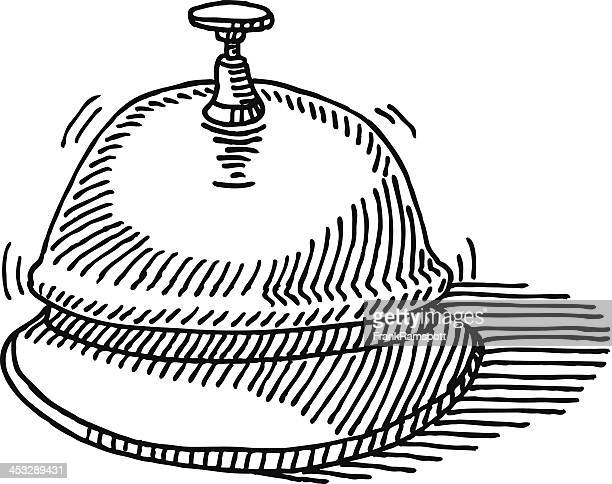 service bell drawing - hotel reception stock illustrations, clip art, cartoons, & icons