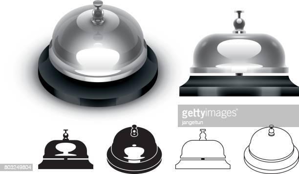 illustrations, cliparts, dessins animés et icônes de cloche de service - cloche