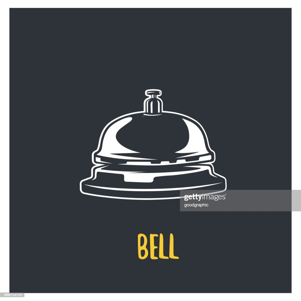 Service bell. Vector logotype.