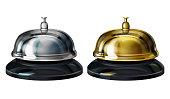 Service bells 3d realistic vector illustration
