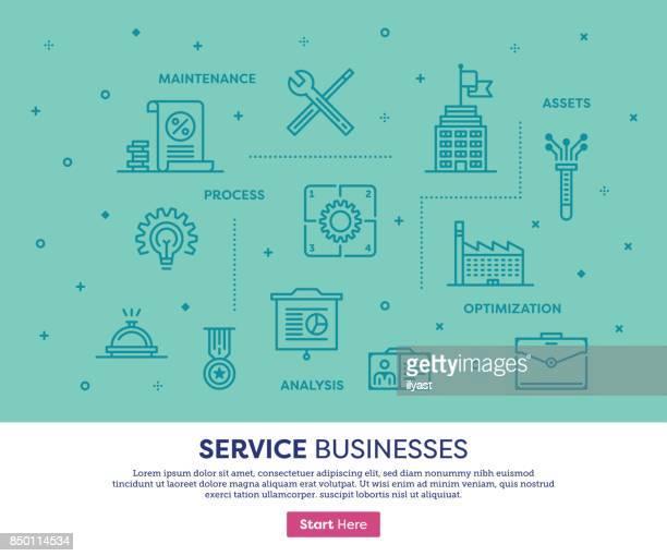 Bedrijven dienstverleningsconcept
