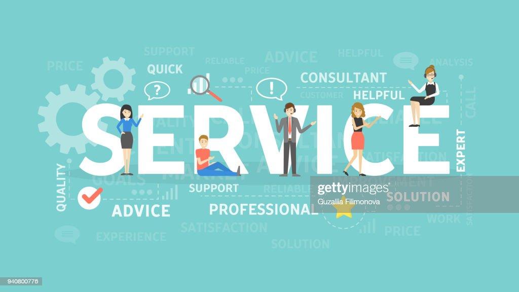 Service concept illustration.