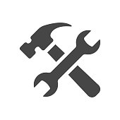 Service tools icon isolated on white background. Vector illustration.