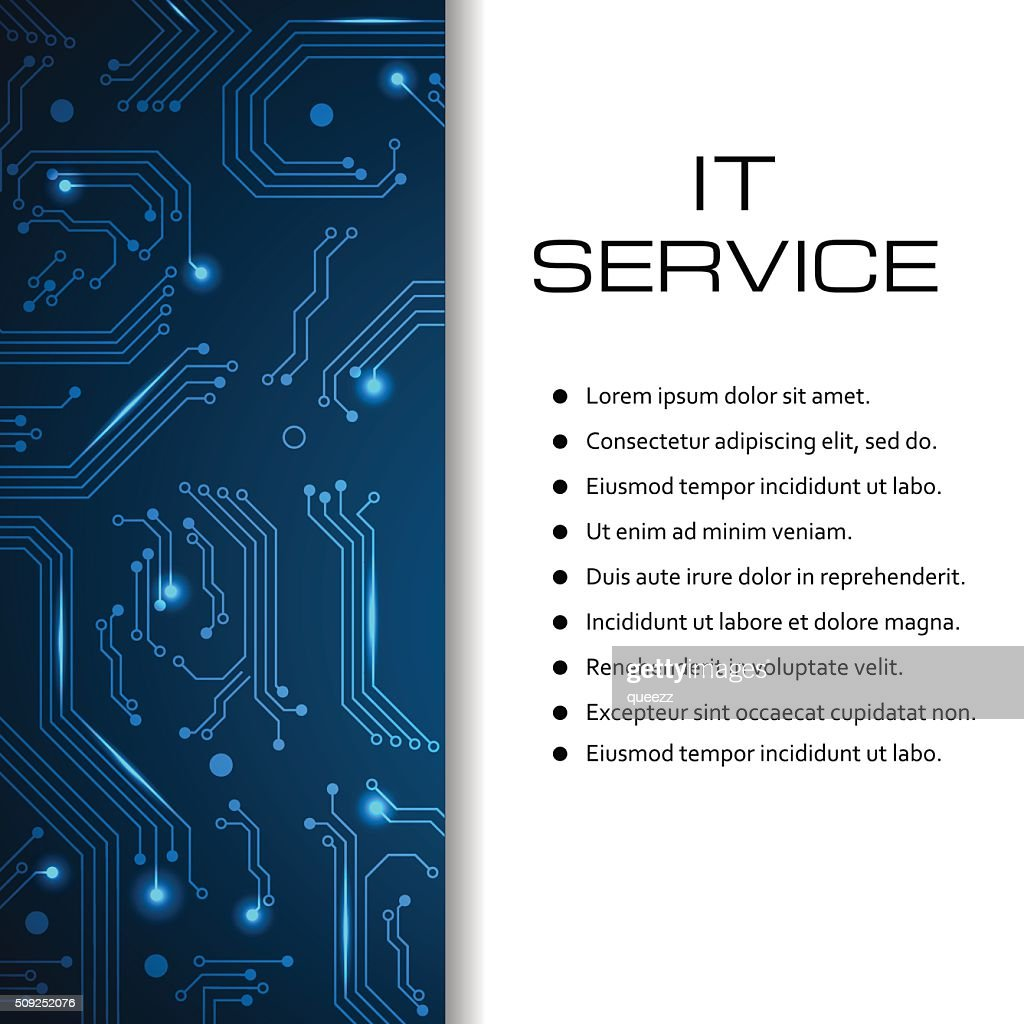 IT service vector banner. Can be used for web design