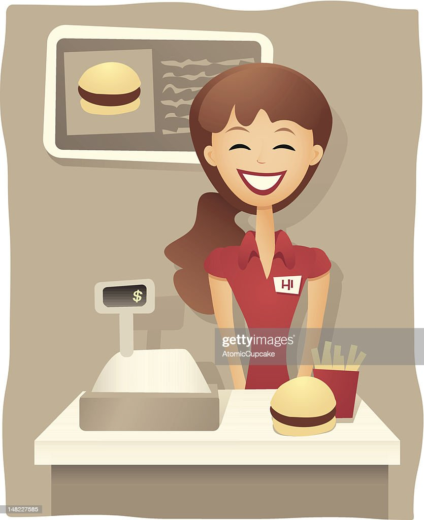 Service With A Smile - Fast Food Worker
