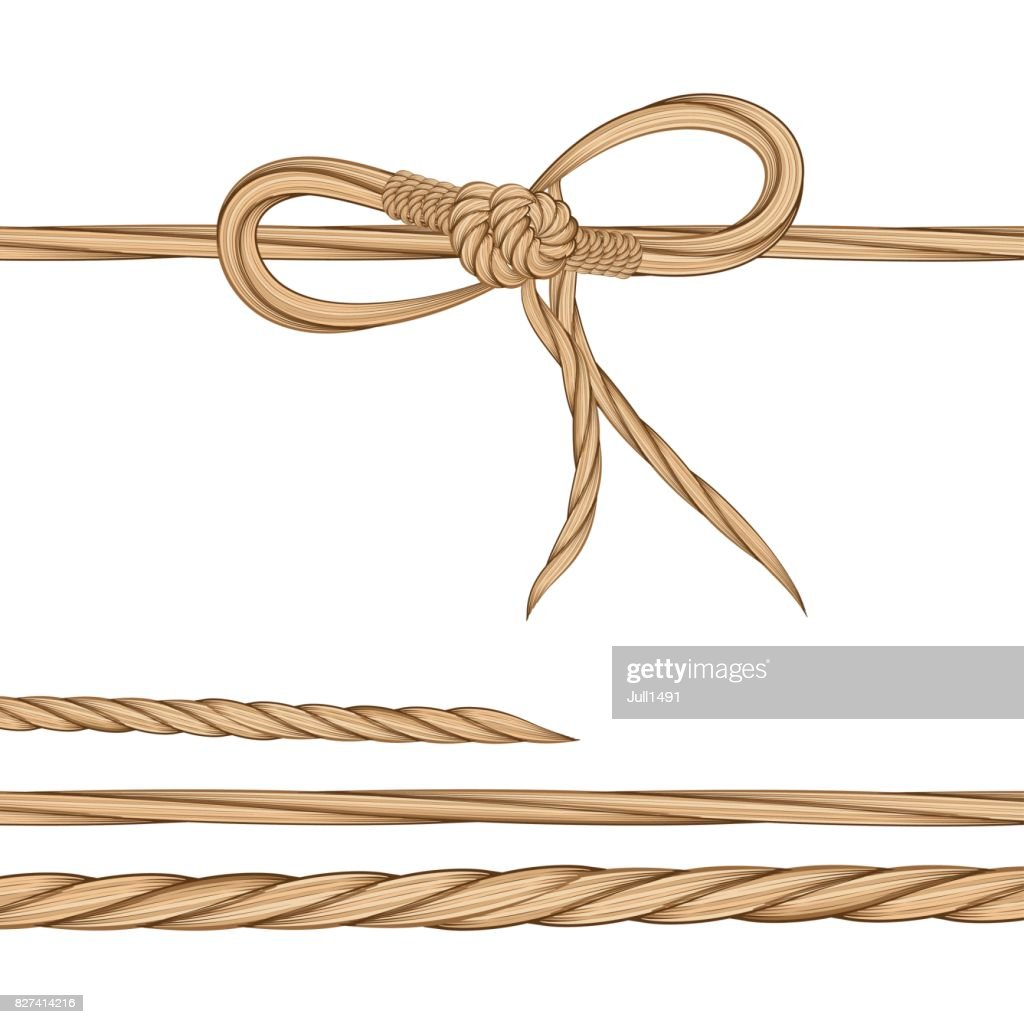 Set a bow of twine and twisted twine