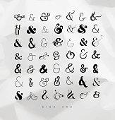 Set ampersands for letters