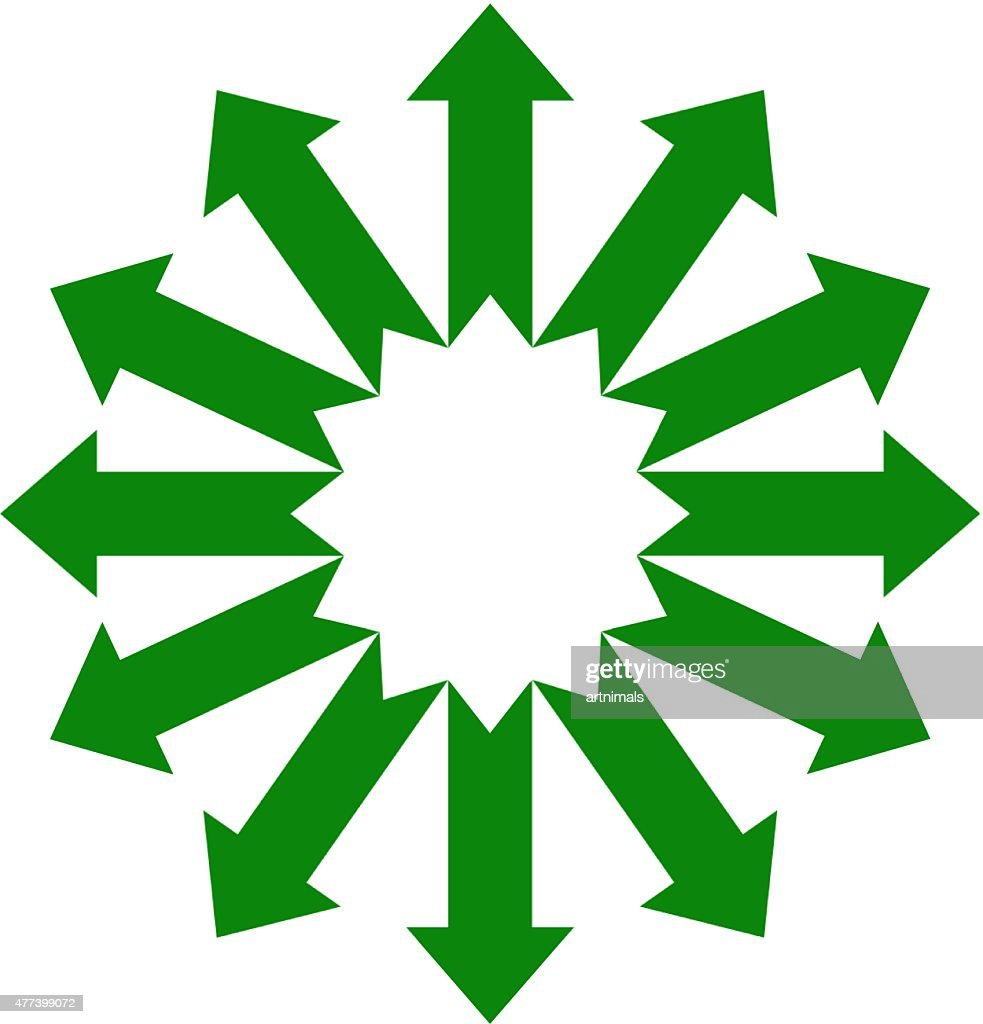 set arrow in a circle
